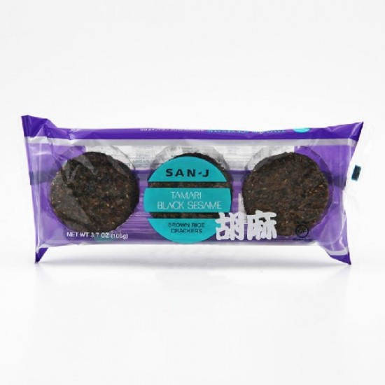 San-J Sesame Brown Rice Crackers (12x3.7 Oz)