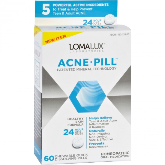Loma Lux Laboratories Acne Pill  Chewable  Quick Dissolving  24 Count
