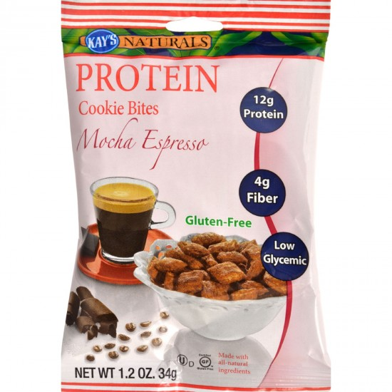 Kays Naturals Cookie Bites  Mocha Espresso  Gluten Free  1.2 oz  Case of 6