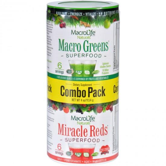 Macro Life Naturals Greens & Reds Combo Pack (4 OZ)