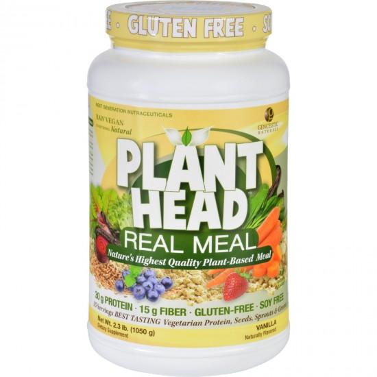 Genceutic Naturals Plant Head Real Meal  Vanilla  2.3 lb