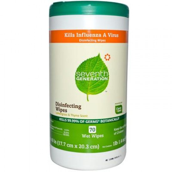 Seventh Generation Disinfecting Multi-Surface Wipes (6x70 ct)