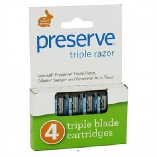 Preserve Triple Razor Blades Refill (6x4 PK)