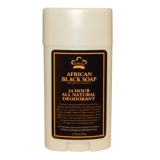 24 Hour All Natural Deodorant, African Black Soap (1X2.25 OZ)