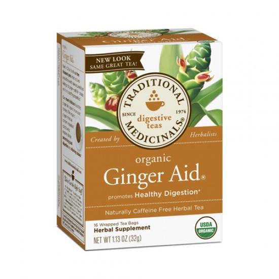 Traditional Medicinals Ginger Aid Herb Tea (1x16 Bag)