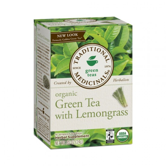 Traditional Medicinals Golden Green Herb Tea (1x16 Bag)