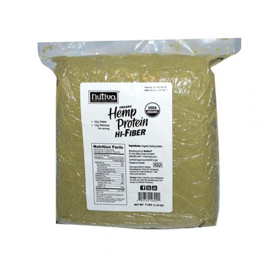 Nutiva Organic Hemp Protein Hi-Fiber 3 Lbs