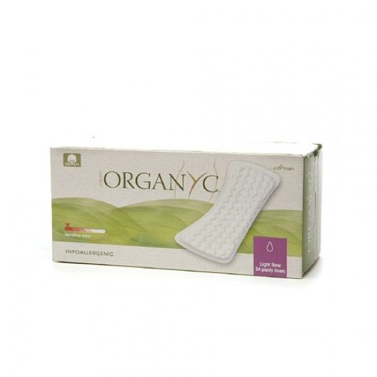 Organyc Cotton Flat Panty Liners (1 x24 Count)