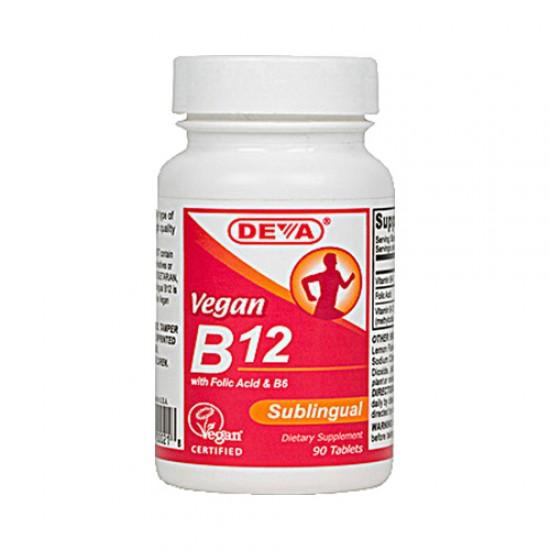 Deva Vegan B12 Sublingual (1x 90 Tablets)