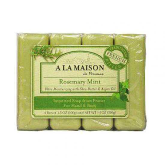 A La Maison Bar Soap Rosemary Mint Value (4 Pack)
