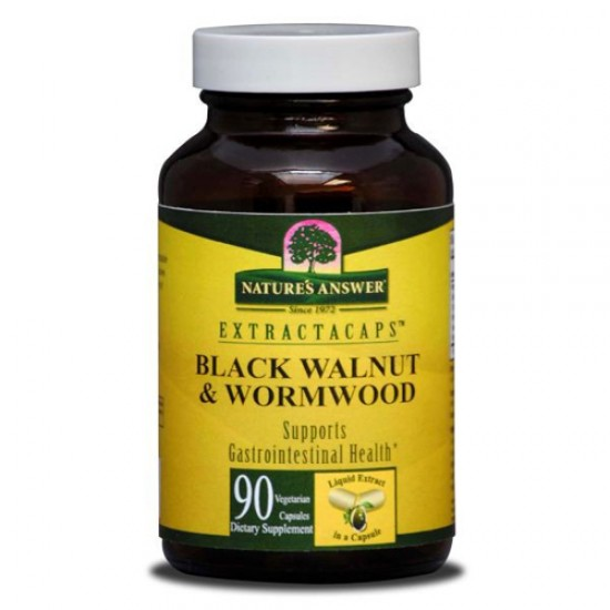 Nature's Answer Black Walnut and Wormwood (1x90 Liquid Capsules)