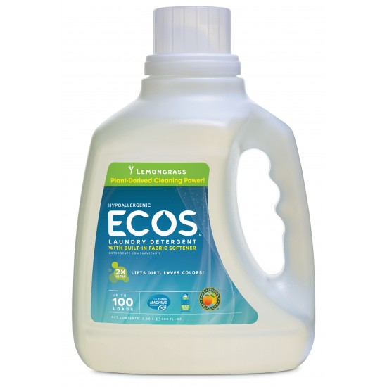 Earth Friendly Ecos Lemongrass Ultra Liquid Detergent (1x100 Oz)