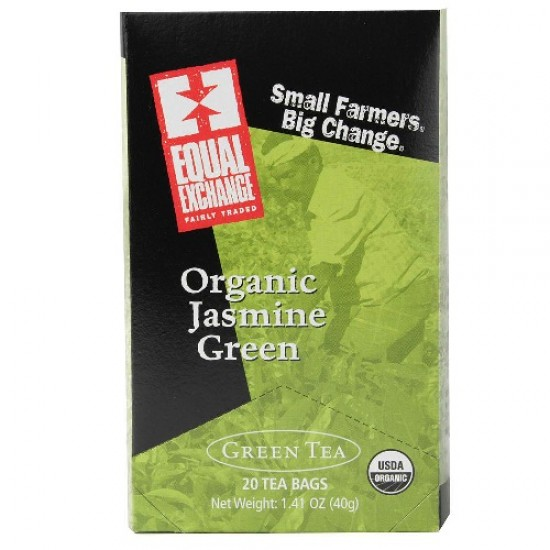 Equal Exchange Organic Jasmine Green Tea (6x20 Bag)